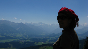 Krista and Dan make it to the Alps and enjoy the view from up high