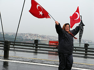 Photo: Istanbul: Crossing the bridge between Asia and Europe on a cold, wet day