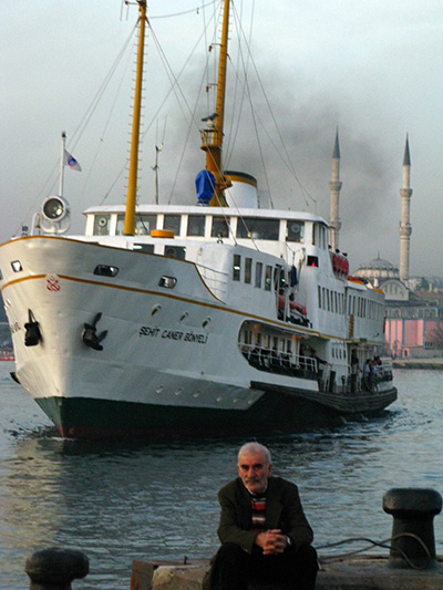 Catching the ferry from Istanbul to Burgazada