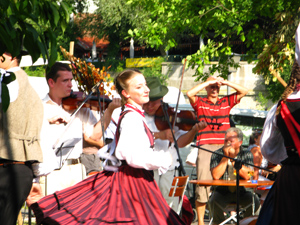 People from the countries of the Danube share their music, dance, food and drink, at the Donau Festival in Ulm